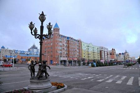 Manzhouli City, Inner Mongolia Hulunbeier Thistle five street lights