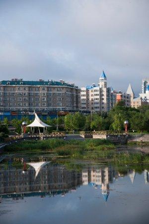 Manzhouli City, Inner Mongolia Hulunbeier small North Lake Park