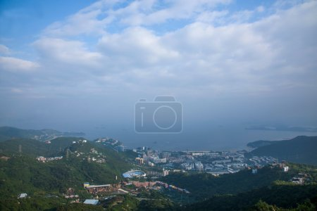 Shenzhen City, Guangdong Province, East Dameisha jungle overlooking the cable car station on line 1 Knight Valley, OCT East eco-park