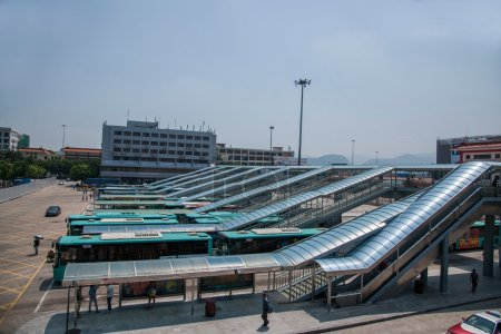 Guangdong Province, Shenzhen Huanggang Port bus stations are