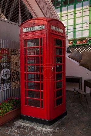 Hong Kong Ocean Park Old Street Old phone booth