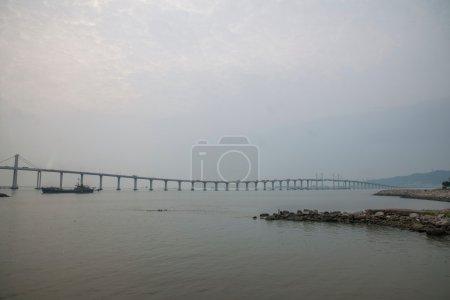 Macau Friendship Bridge across the sea