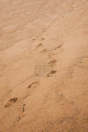 Zhuhai City, Guangdong Province, Zhong Ling Kok Tsui seafood lovers beach footprints on the beach pier