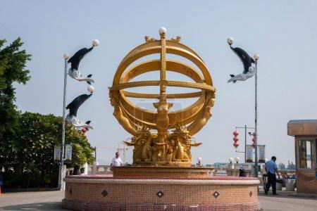 Zhuhai City, Guangdong Province, Middle Lover Wild Beaver Island beach sculpture Tak Yuet Fang