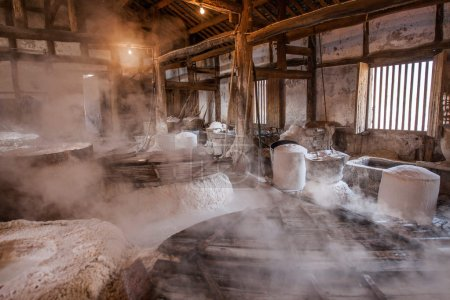 Zigong one thousand meters ancient salt - Sun Sea wells ruins reproduce the ancient tradition of salt craft workshops