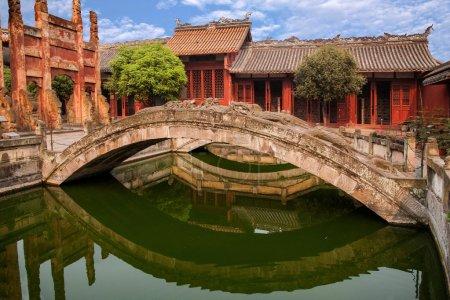 Fushun Fushun County, Sichuan Province, the Confucian Temple lattice door