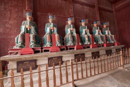 Fushun Fushun County, Sichuan Province Dacheng Temple worship hall twelve philosopher statue