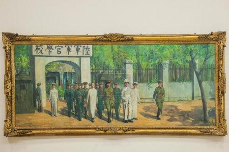 Zhongzheng District, Taipei, Taiwan, Chiang Kai-shek Memorial Hall, Chiang Kai-shek's life outlined four paintings