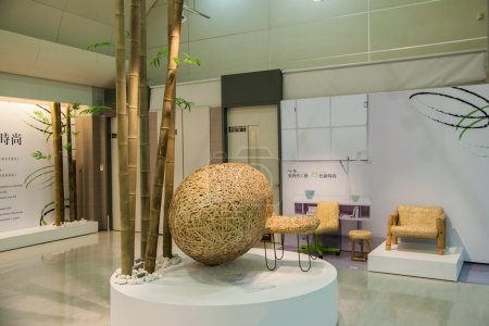 "Taiwan Taoyuan International Airport Terminal show ""Taiwan Bamboo Art"" crafts"