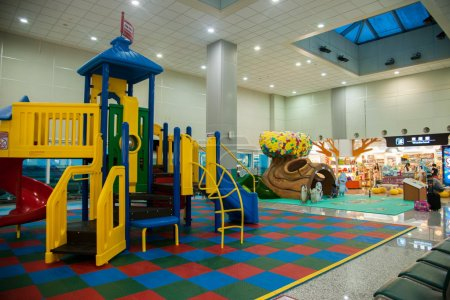 Taiwan Taoyuan International Airport Terminal children's playground area