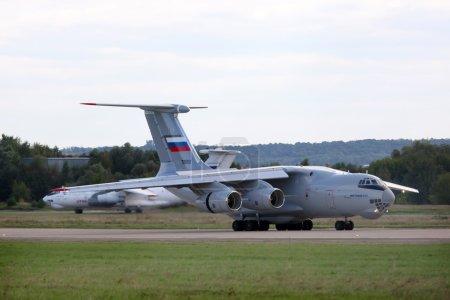 The Ilyushin Il-76MD-90A landing