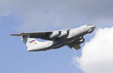 ZHUKOVSKY, RUSSIA - AUGUST 26: The Ilyushin Il-76MD-90Ademonstr