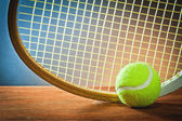 ball and tennis racket