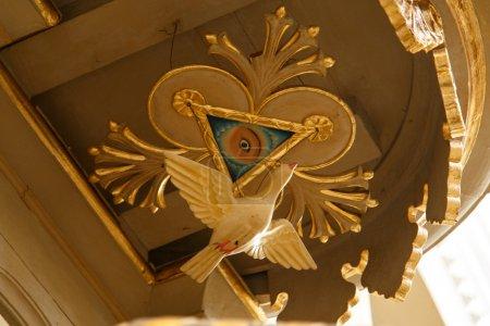 Photo pour Peinture Illuminati dans la cathédrale Léon, Nicaragua - image libre de droit