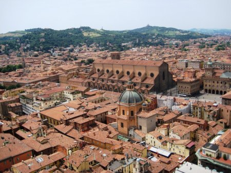 Roofs of Bologna, Italy