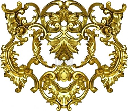 Baroque ornate art gold ornament textile fashion frame
