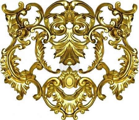 Photo for Gold ornate frame art baroque for design textile - Royalty Free Image