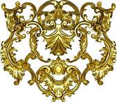 Barokní zdobená zlatá ozdoba textilní módní rámeček