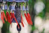 Feng shui čínské zvonek a mince foukané