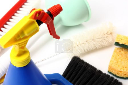 Photo for Basin and bucket cleaning detergents - Royalty Free Image