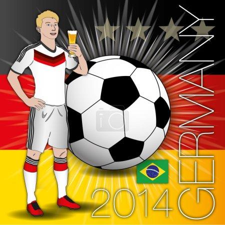 Germany flag, ball, four stars, 2014