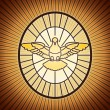 Vector file dove in the stained glass, saint peter...