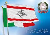 drapeau régional de Toscane, Italie
