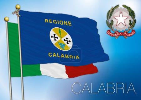 Calabria regional flag, italy