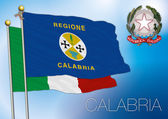 Calabria regional flag italy