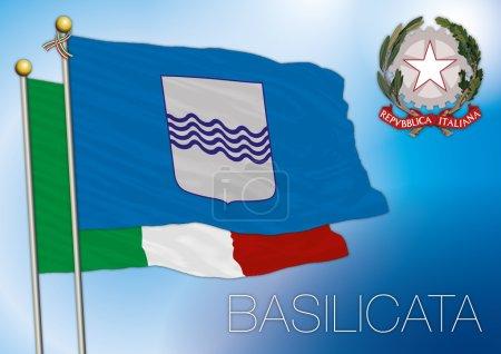 Basilicata regional flag, italy