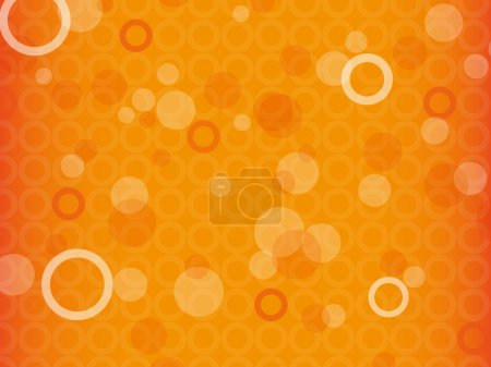 Illustration for Orange abstract background with circles - Royalty Free Image