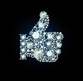 Diamond Like Thumb Up Sign