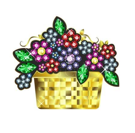 Gem Baskets Of Flowers