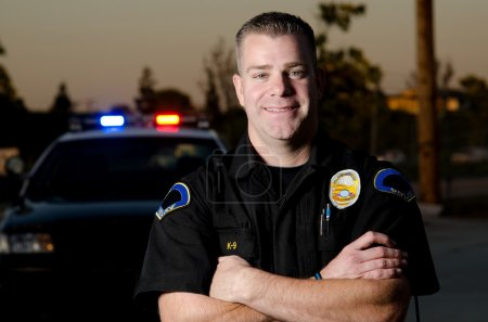 Smiling officer