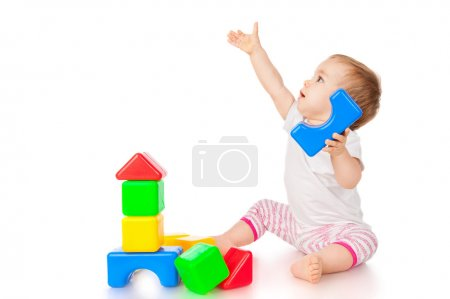 Little girl with blocks