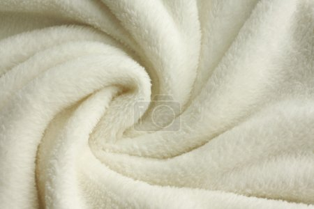 Soft White Plush Blanket Background