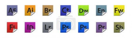 Complete set of 3D buttons for all Adobe products...