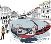 Vector illustration of Venice Italy