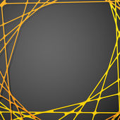 Abstract geometric grey background with yellow and orange circle shape