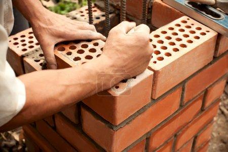 Working in progress. Bricks laying