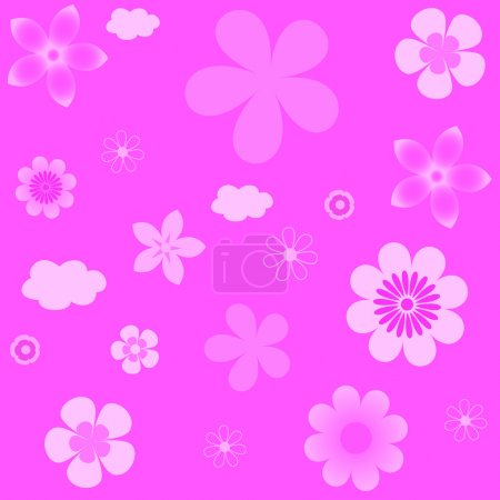 Abstract vector background with flowers.