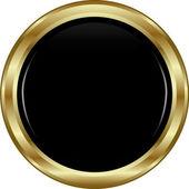 Black gold button