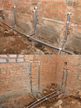 Installation of mains water