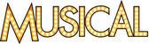 Luminous sign of broadway musical type
