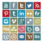 Sada 25 sociálně mediální barevné ikony