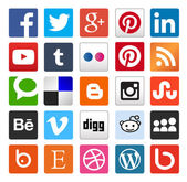 Simple flat social media icons or buttons Vector file eps 10 customizable whith illustrator or coreldraw usefull for blogs graphic design and web design