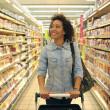 Women, Shopping, Supermarket, Shopping Cart, Retai...