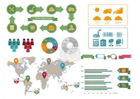 Illustration for Infographic Design Elements for Nice Presentation - Royalty Free Image