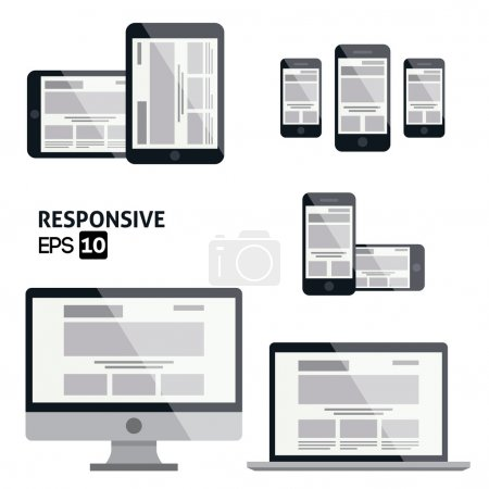Responsive Web Design - Glossy Icon