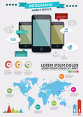 Beautiful Smartphone Infographic. Modern infographics set and icons IT tehnology.